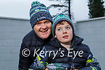 Dara Vaughan with his dad Richie at home in Newcastlewest