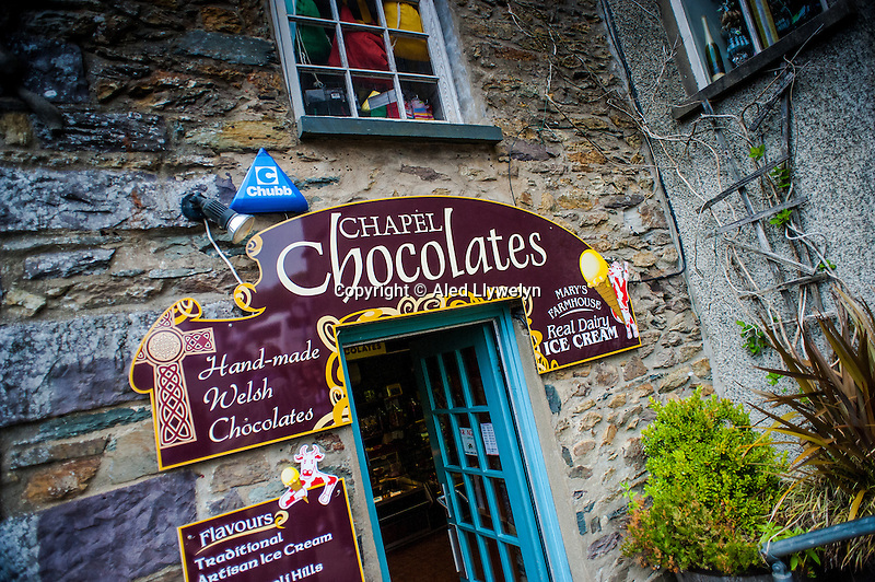 Thursday  19  June  2014<br /> <br /> Pictured: View of Chapel Chocolates shop, St.Davids Wales Re:  Views of St Davids