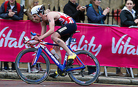 31 MAY 2015 - LONDON, GBR - Alistair Brownlee (GBR) from Great Britain leads the front pack during the bike at the elite men's 2015 ITU World Triathlon Series round in Hyde Park, London, Great Britain (PHOTO COPYRIGHT © 2015 NIGEL FARROW, ALL RIGHTS RESERVED)