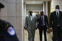 Philonise Floyd, the brother of George Floyd, leaves the United States House Committee on the Judiciary hearing during a break in his testimony before Congress at the United States Capitol in Washington D.C., U.S., on Wednesday, June 10, 2020.  Credit: Stefani Reynolds / CNP/AdMedia