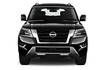 Car photography straight front view of a 2021 Nissan Armada SL 5 Door SUV Front View