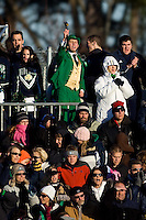 Notre Dame Fighting Irish fans. The North Carolina Tar Heels defeated the Notre Dame Fighting Irish 2-1 during the finals of the NCAA Women's College Cup at Wakemed Soccer Park in Cary, NC, on December 7, 2008. Photo by Howard C. Smith/isiphotos.com
