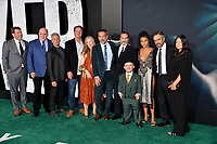 "LOS ANGELES, USA. September 29, 2019: Shea Shigham, Glenn Fleshler, Josh Pais, Brett Cullen, Frances Conroy, Todd Phillips, Joaquin Phoenix, Leigh Gill, Zazie Beetz, Marc Maron & Emma Tillinger Koskoff at the premiere of ""Joker"" at the TCL Chinese Theatre, Hollywood.<br /> Picture: Paul Smith/Featureflash"