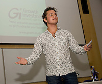 The Growth Investment Network hosted Secret Millionaire Ben Way who is pictured speaking to local entrepreneurs at Nottingham University Business School