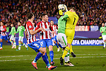 Atletico de Madrid's player Kevin Gameiro and Sime Vrsaljko and PSV Eindhoven's player Jetro Willems and Jeroen Zoet during a match of La Liga at Santiago Bernabeu Stadium in Madrid. November 06, Spain. 2016. (ALTERPHOTOS/BorjaB.Hojas)