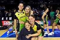 Ivana Rowland, Parris Mason and Paris Lokotui of the Pulse, ANZ Premiership Netball - Pulse v Magic at TSB Bank Arena, Wellington, New Zealand on Sunday 30 May 2021.<br /> Photo by Masanori Udagawa. <br /> www.photowellington.photoshelter.com