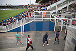 Hartlepool United 0 Middlesbrough 0, 20/07/2013. Victoria Ground, Pre-Season Friendly. Supporters of Middlesbrough making their way out of the Victoria Ground, Hartlepool, at the conclusion of a pre-season friendly between their team and Hartlepool United. Hartlepool were relegated to League Two at the end of the 2012-13 season whilst their Teesside neighbours remained two divisions above them in the Championship. The game ended in a no-score draw watched by a crowd of 2307. Photo by Colin McPherson.