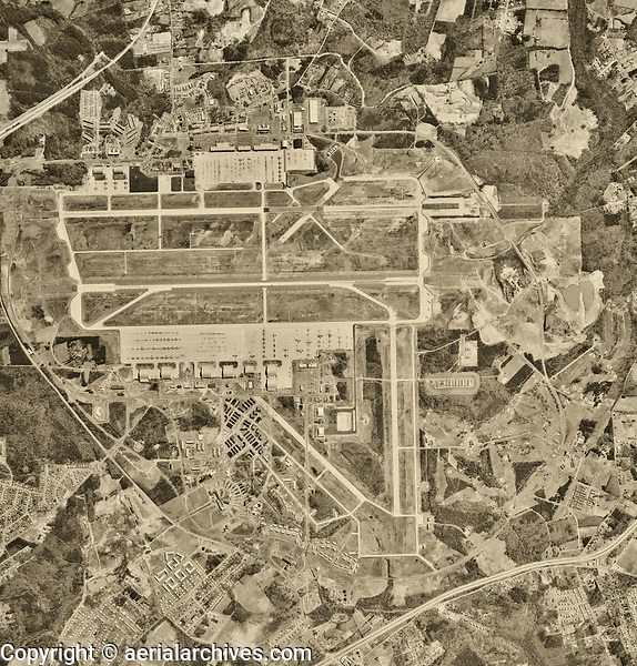 aerial photo map of Andrews Air Force Base, Prince George's county, Maryland 1963