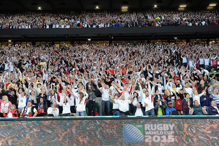 Fans at the Opening Ceremony of the Rugby World Cup 2015 between England and Fiji - 18/09/2015 - Twickenham Stadium, London <br /> Mandatory Credit: Rob Munro/Stewart Communications
