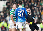 St Johnstone v Celtic…03.02.19…   McDiarmid Park    SPFL<br />Scott Brown has words with Sean Goss after he is fouled<br />Picture by Graeme Hart. <br />Copyright Perthshire Picture Agency<br />Tel: 01738 623350  Mobile: 07990 594431