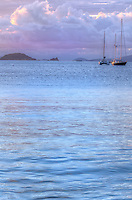Dusk looking out towards Carvel Rock<br /> U.S. Virgin Islands