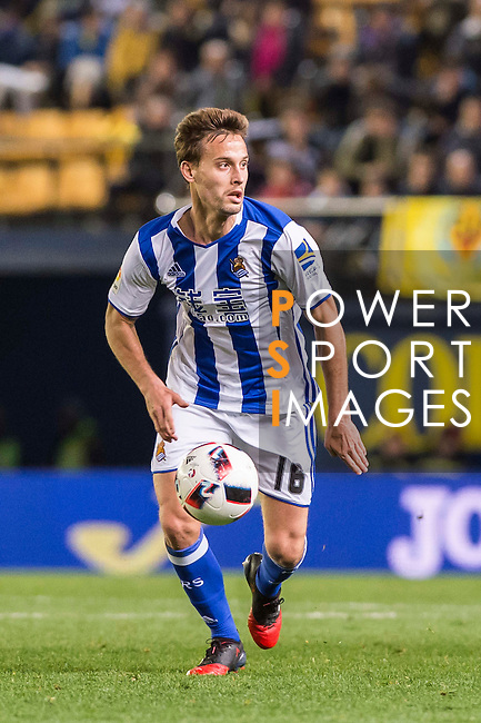 Sergio Canales Madrazo of Real Sociedad in action during their Copa del Rey 2016-17 Round of 16 match between Villarreal and Real Sociedad at the Estadio El Madrigal on 11 January 2017 in Villarreal, Spain. Photo by Maria Jose Segovia Carmona / Power Sport Images