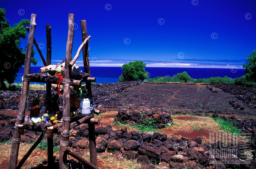 The Puu O Mahuka Heiau State Monument is an ancient Hawaiian place of ceremony. Stone wrapped Ti leaves, flower leis and fruit are often left by the faithful as offerings.  Located near the north coast of Oahu off Pupukea road.
