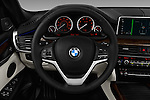 Car pictures of steering wheel view of a 2018 BMW X5 xDrive40e 5 Door SUV Steering Wheel