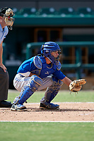 Toronto Blue Jays catcher Reilly Johnson (7) during an Instructional League game against the Detroit Tigers on October 12, 2017 at Joker Marchant Stadium in Lakeland, Florida.  (Mike Janes/Four Seam Images)