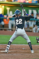 Pedro Gonzalez (22) of the Grand Junction Rockies at bat against the Ogden Raptors in Pioneer League action at Lindquist Field on June 20, 2016 in Ogden, Utah. The Rockies defeated the Raptors 5-2. (Stephen Smith/Four Seam Images)