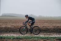 3rd October 2021, Paris–Roubaix Mens Cycling tour;  Quentin Jauregui during the Paris–Roubaix which is famous for its uneven cobblestone course.