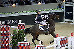 Jessica Mendoza on Wan Architect competes during Longines Speed Challenge at the Longines Masters of Hong Kong on 20 February 2016 at the Asia World Expo in Hong Kong, China. Photo by Victor Fraile / Power Sport Images
