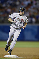 Lance Berkman of the Houston Astros runs the bases during a 2002 MLB season game against the Los Angeles Dodgers at Dodger Stadium, in Los Angeles, California. (Larry Goren/Four Seam Images)