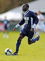 15 October 2008: University of New Hampshire Wildcats' midfielder Joey Twum-Barima, a Senior from Essex, England, in action against the University of Vermont Catamounts at Centennial Field, in Burlington, Vermont. The Wildcats and Catamounts battled in overtime to a 0-0 tie...Mandatory Photo Credit: Ed Wolfstein Photo