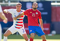 CARSON, CA - FEBRUARY 1: Aaron Long #3 of the United States  and Marco Urena #21 of Costa Rica during a game between Costa Rica and USMNT at Dignity Health Sports Park on February 1, 2020 in Carson, California.