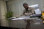 Rakesh Sinha, Director Technical (Operations) of Coal India speaks during an interview in his office in BCCL (Bharat Coking Coal Limited) headquarters in Dhanbad, Jharkhand, India. Photo: Sanjit Das