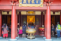 Buddha Tooth Relic Temple Entrance, Chinatown, Singapore.