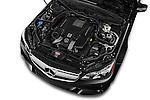 Car Stock 2015 Mercedes Benz E Class E63 AMG S 5 Door Wagon Engine high angle detail view