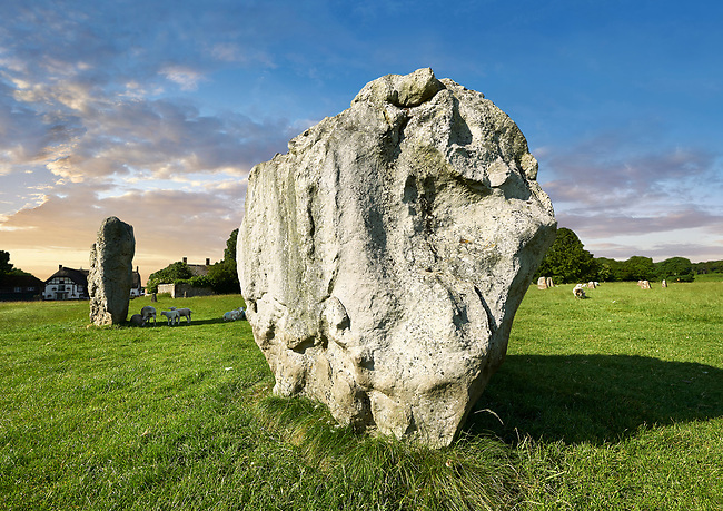 Avebury Neolithic standing stone Circle the largest in England, Wiltshire, England, Europe