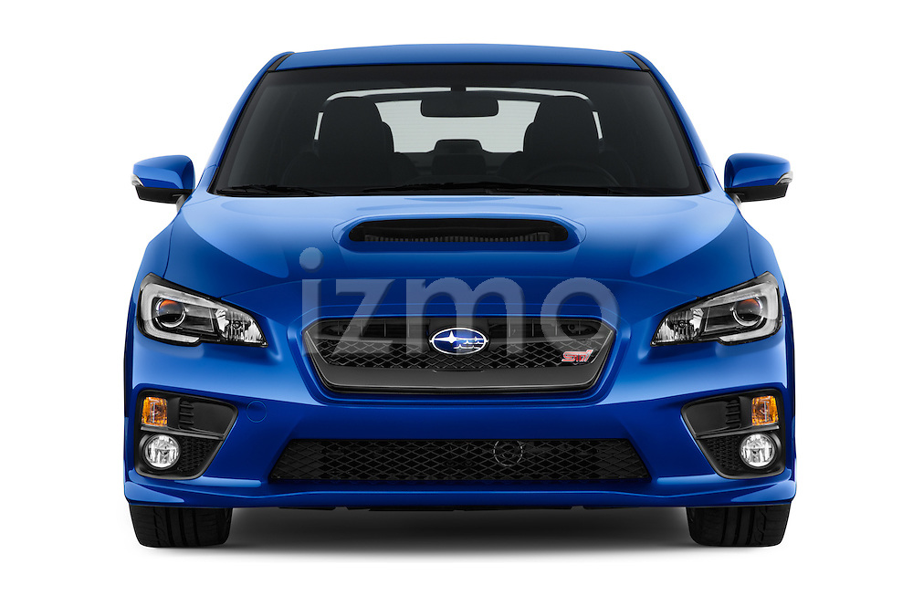 Car photography straight front view of a 2017 Subaru WRX STI - 4 Door Sedan Front View