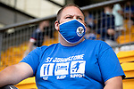 St Johnstone v Fleetwood Town…24.07.21  McDiarmid Park<br />A saints fan back in the stands watching footbal<br />Picture by Graeme Hart.<br />Copyright Perthshire Picture Agency<br />Tel: 01738 623350  Mobile: 07990 594431