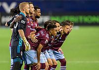 CARSON, CA - SEPTEMBER 19: Colorado Rapids starting eleven during a game between Colorado Rapids and Los Angeles Galaxy at Dignity Heath Sports Park on September 19, 2020 in Carson, California.