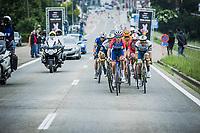 Dries Van Gestel (BEL/Total Direct Energie), Boy Van Poppel (NED/intermarche-Wanty-Gobert) leading the breakaway group<br /> <br /> 17th Dwars Door Het Hageland 2021<br /> One Day Race: Aarschot – Diest 18Okm (UCI 1.Pro)<br /> Bingoal Cycling Cup 2021<br /> <br /> ©kramon