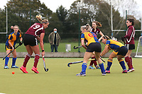 Upminster score their fourth goal and celebrate during Upminster HC Ladies vs Wapping HC Ladies 2nd XI, East Region League Field Hockey at the Coopers Company and Coborn School on 10th October 2020