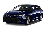 2019 Toyota Corolla Touring Sports Dynamic 5 Door Wagon angular front stock photos of front three quarter view