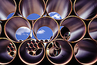 pipe, pipes, tube, tubes, stock, yard, stockyard, steel, construction, oil, oil industry, stockpile, rugged, strength, graphic, heavy industry, horizontal, pipeline, cylinder, pipelines, cylinders, round, cylindrical, heavy duty, durable, repetitive, engi