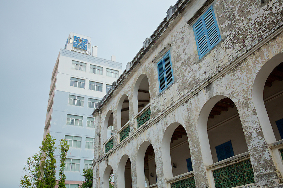 Custom House In Beihai (Pakhoi) With The Newer Office To Rear.  Both Buildings Are Currently Not In Use.