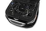 Car Stock 2017 Genesis G80 4 Door Sedan Engine  high angle detail view