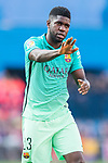 Samuel Umtiti of FC Barcelona reacts during their La Liga match between Atletico de Madrid and FC Barcelona at the Santiago Bernabeu Stadium on 26 February 2017 in Madrid, Spain. Photo by Diego Gonzalez Souto / Power Sport Images