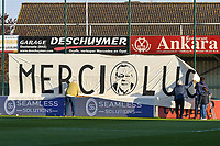 Banner merci Luc pictured before a female soccer game between  AA Gent Ladies and Club Brugge YLA on the third matchday of play off 1 in the 2020 - 2021 season of Belgian Scooore Womens Super League , friday 23 th of April 2020  in Oostakker , Belgium . PHOTO SPORTPIX.BE   SPP   STIJN AUDOOREN