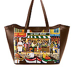"""""""St. Tropez""""<br /> Leather Tote Bag by Icon Shoes<br /> <br /> No longer available."""