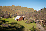 Wooden barn in the Coast Range of California