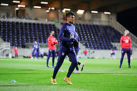 WIENER NEUSTADT, AUSTRIA - NOVEMBER 16: Ulysses Llanez Jr #21 of the United States warming up before a game between Panama and USMNT at Stadion Wiener Neustadt on November 16, 2020 in Wiener Neustadt, Austria.