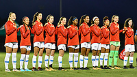 Lakewood Ranch, FL - Wednesday, October 10, 2018:   Starting XI during a U-17 USWNT match against Colombia.  The U-17 USWNT defeated Colombia 4-1.