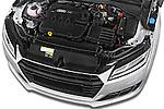 Car Stock 2016 Audi TT-Roadster - 2 Door Convertible Engine  high angle detail view
