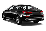 Car pictures of rear three quarter view of a 2019 KIA Optima LX 4 Door Sedan angular rear
