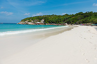 Amazing white sand beach in Patok bay of Raya island, Thailand