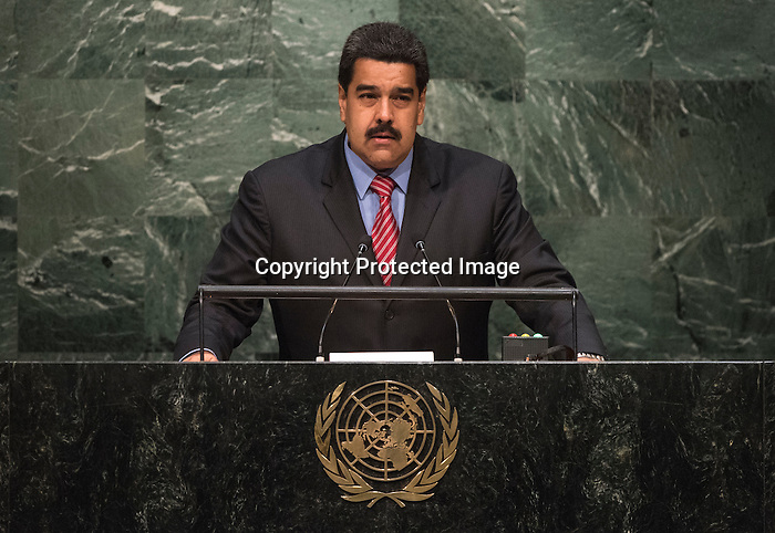 His Excellency Nicolás Maduro Moros, President of the Bolivarian Republic of Venezuela  <br /> <br /> General Assembly Seventieth session 9th plenary meeting: High-level plenary meeting of the (6th meeting)