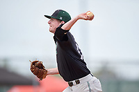 Plymouth State Panthers relief pitcher Kyle McCarthy (17) delivers a pitch during the second game of a doubleheader against the Edgewood Eagles on March 17, 2016 at Lee County Player Development Complex in Fort Myers, Florida.  Plymouth State defeated Edgewood 16-3.  (Mike Janes/Four Seam Images)