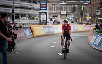 Per Strand Hagenes (NOR) crosses the finish line as the newest Junior Men World Champion<br /> <br /> World Championships Junior Men - Road Race (WC)<br /> from Leuven to Leuven (121.4km)<br /> <br /> UCI Road World Championships - Flanders Belgium 2021<br /> <br /> ©kramon
